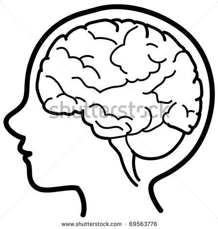 447x470 Brain Clip Art