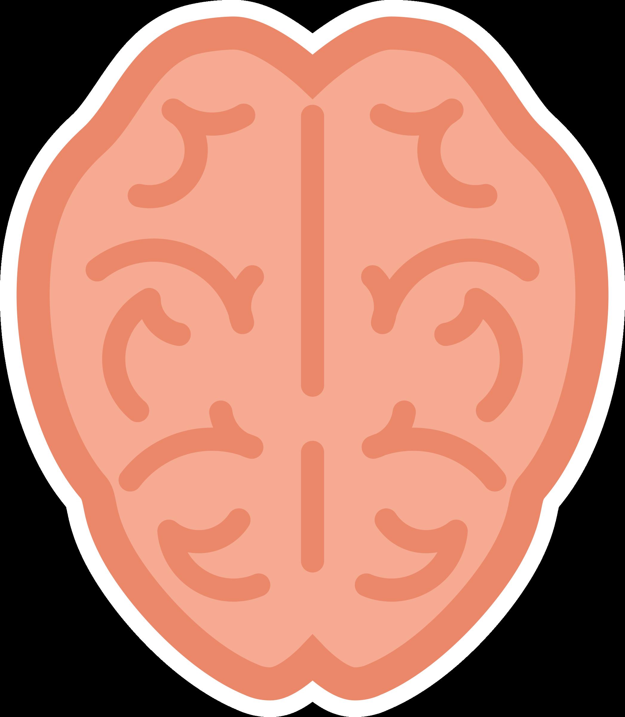 2092x2400 Orange Clipart Brain