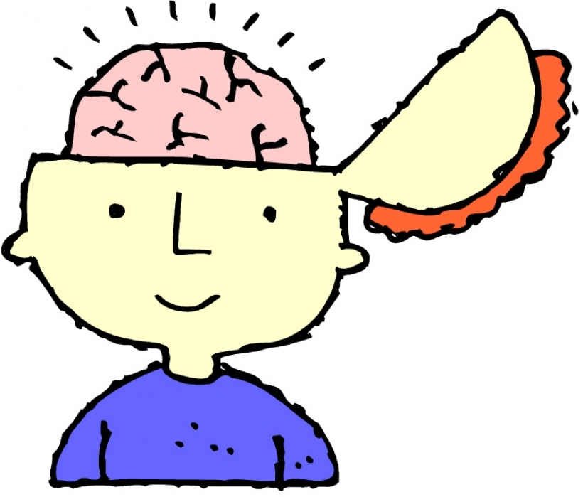 820x699 Thinking Brain Clipart For Kids