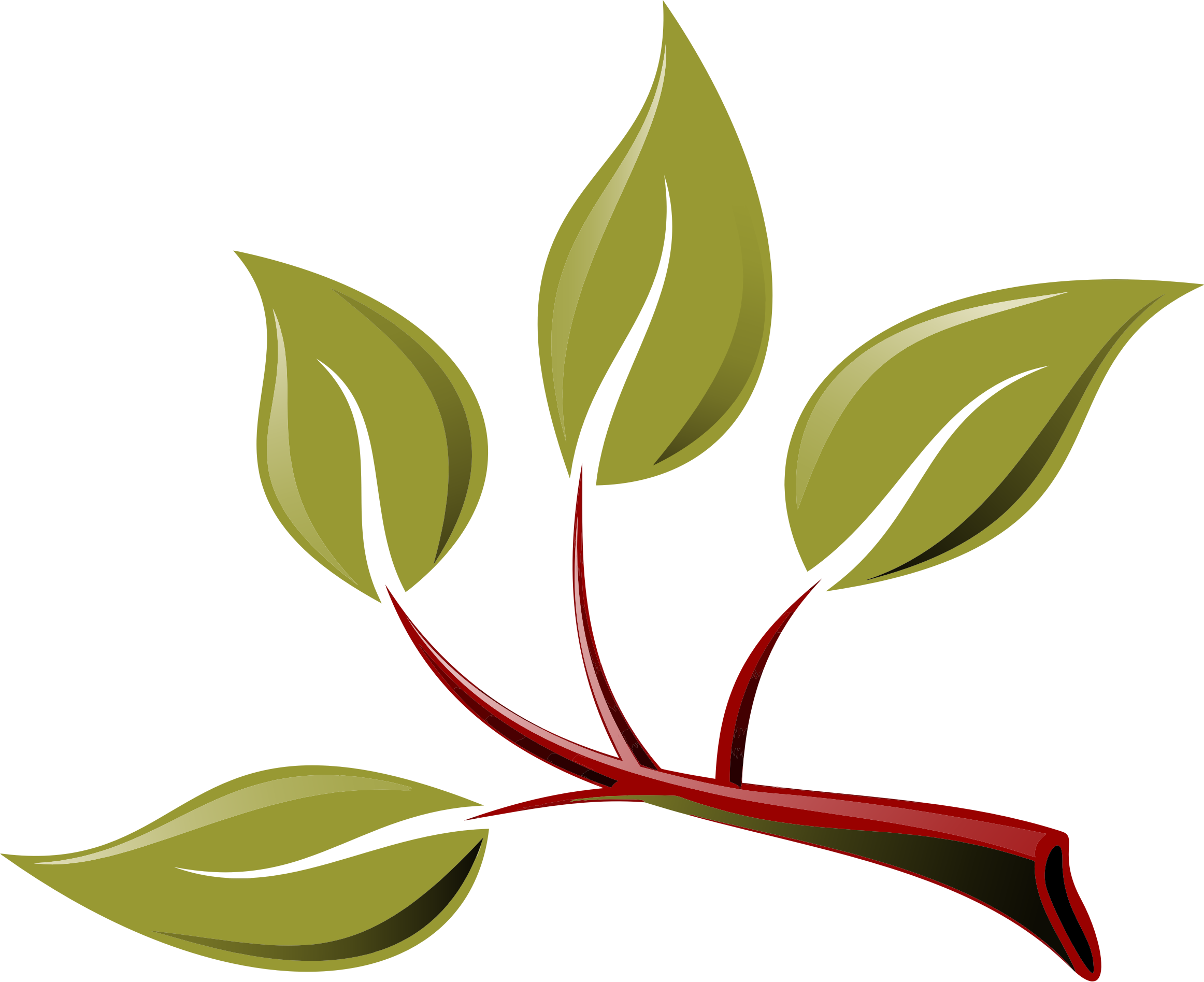 2324x1895 Branch Clipart Leaf Branch