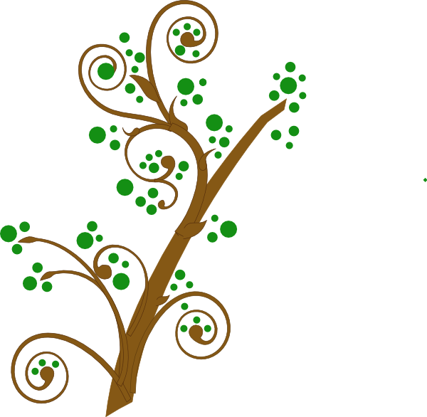 600x586 Brown And Green Tree Branch Clip Art