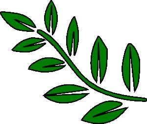 300x253 Green Tree Branch Clip Art
