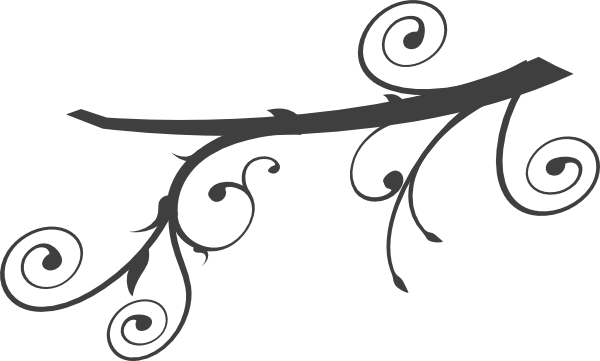 600x361 Branch Swirl Clip Art