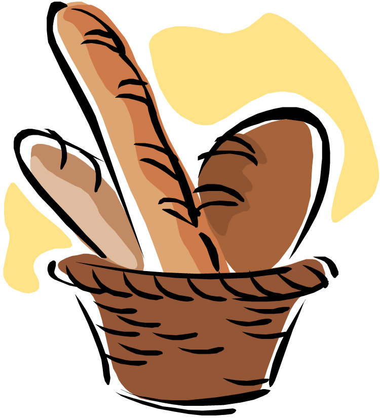 750x827 Bread Roll Clipart Bread Basket