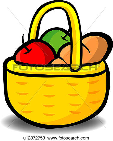 375x470 Food Basket Clipart