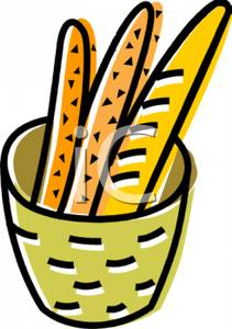 211x300 Baguette Sticks In A Basket Clipart Image