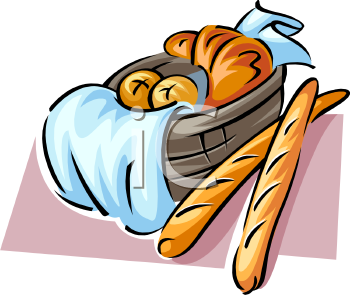 350x295 Rolls Clipart Bread Basket