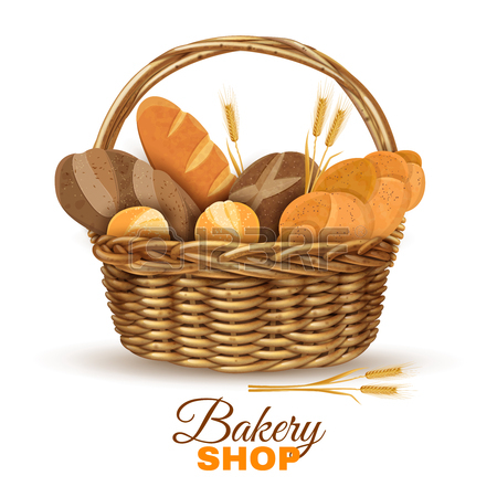 450x450 Basket Clipart Bread
