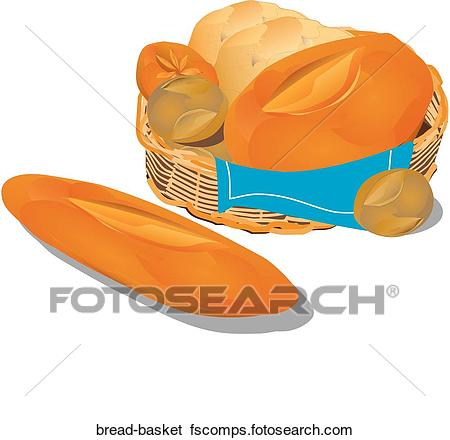450x440 Stock Illustration Of Bread Basket Bread Basket