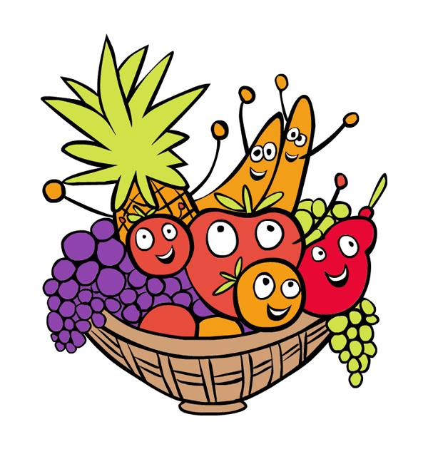600x630 Thanksgiving Basket Clipart