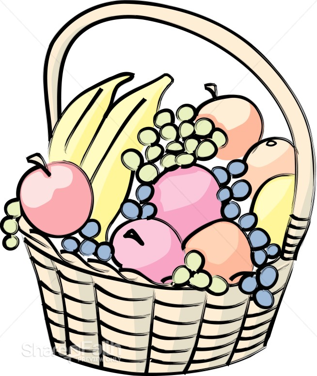 654x776 Basket Of Fruit Cartoon Church Food Clipart