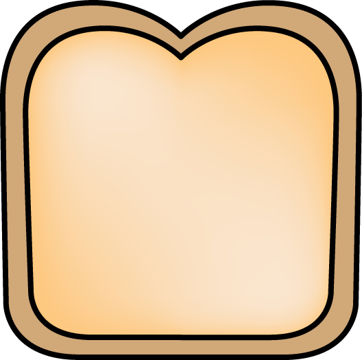 528x524 Slice Of Bread Clip Art