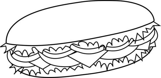 550x268 Bread Roll Clipart Black And White