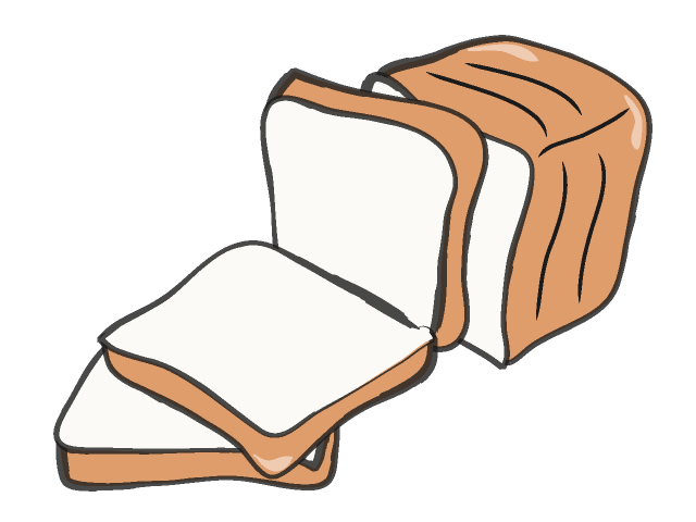 640x480 Slice Of Bread Clipart Black And White Free