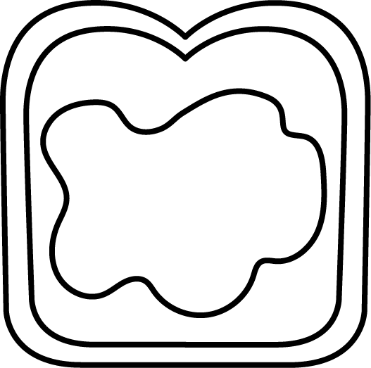 527x523 Black And White Buttered Bread Clip Art