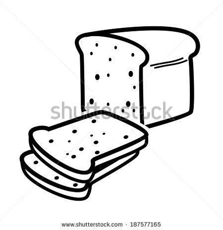 450x464 White Bread And Black Clipart