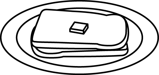 549x260 Black And White Plate Of Buttered Bread Clip Art
