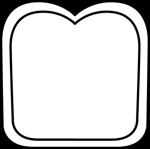 528x524 Black And White Slice Of Bread Clip Art