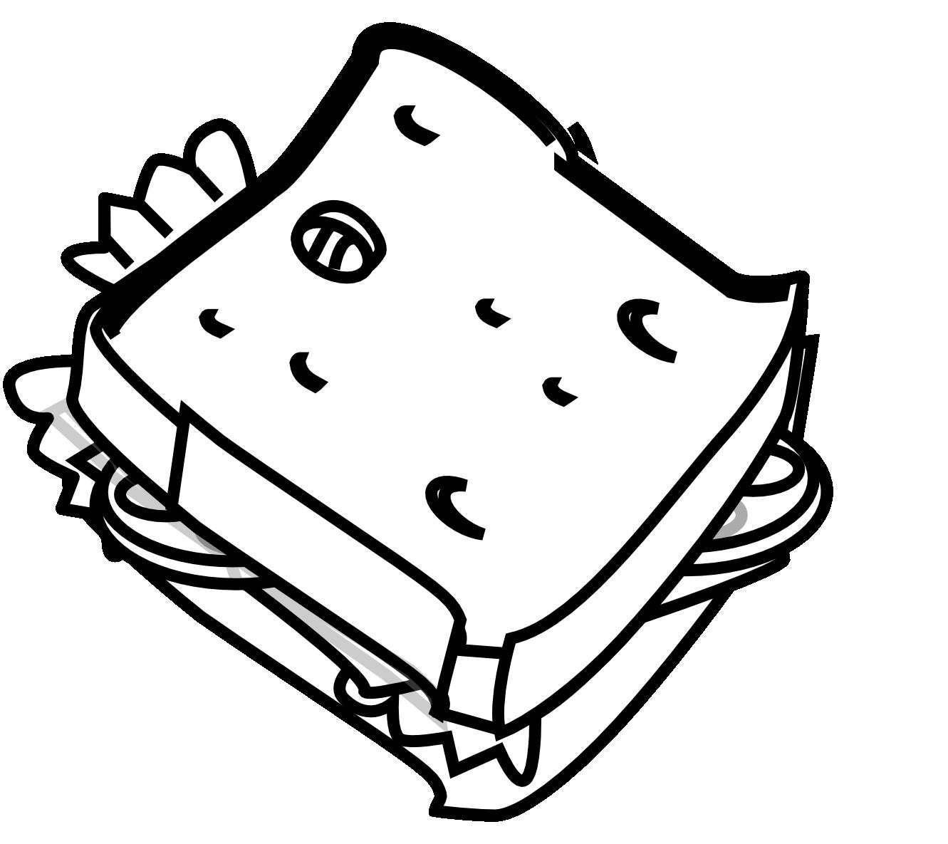 1331x1185 Black Clipart Sandwich