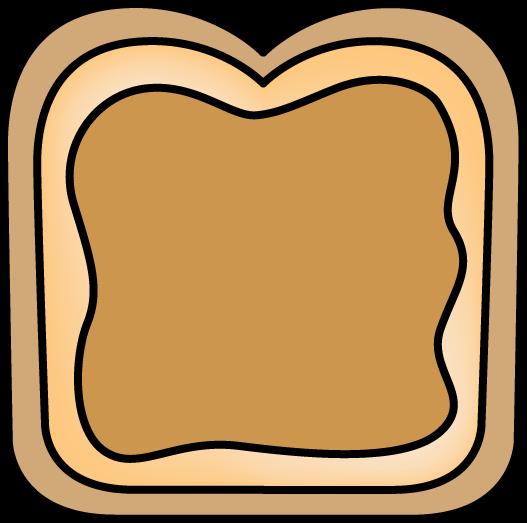 527x523 Bread With Peanut Butter Clip Art