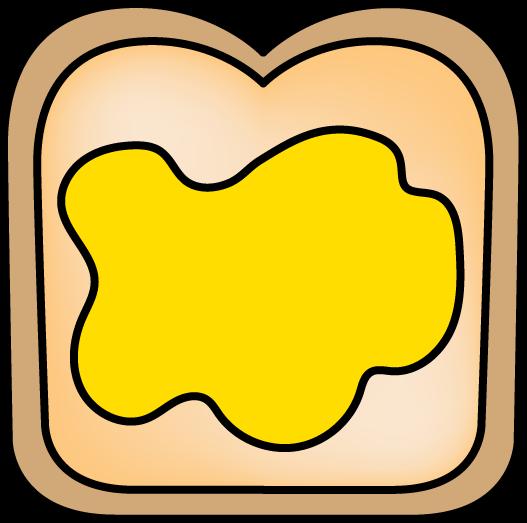 527x523 Buttered Bread Clip Art