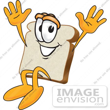450x450 Clip Art Graphic Of A Happy White Bread Slice Mascot Character