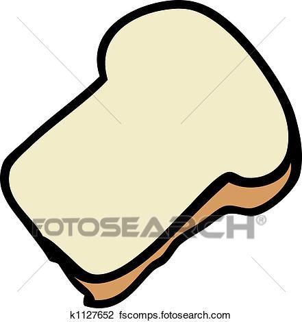 441x470 Clip Art Of Slice Of Bread K1127652