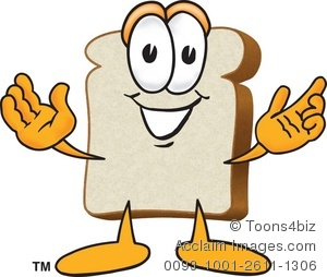 300x254 Clipart Bread Slice With Arms Out