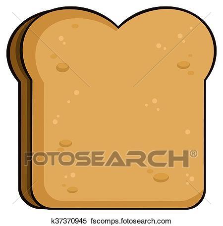 450x457 Clipart Of Cartoon Toast Bread Slice K37370945
