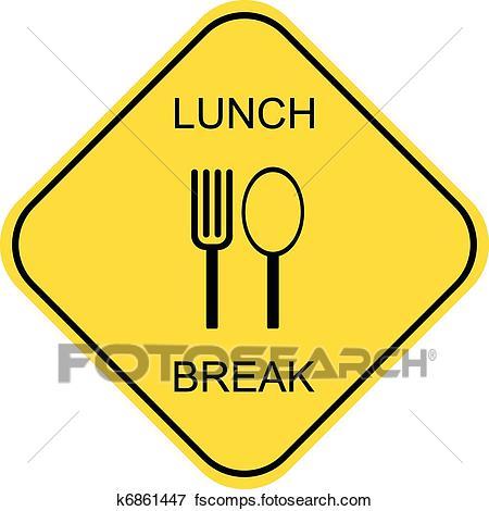 450x470 Clip Art Of Lunch Break K6861447