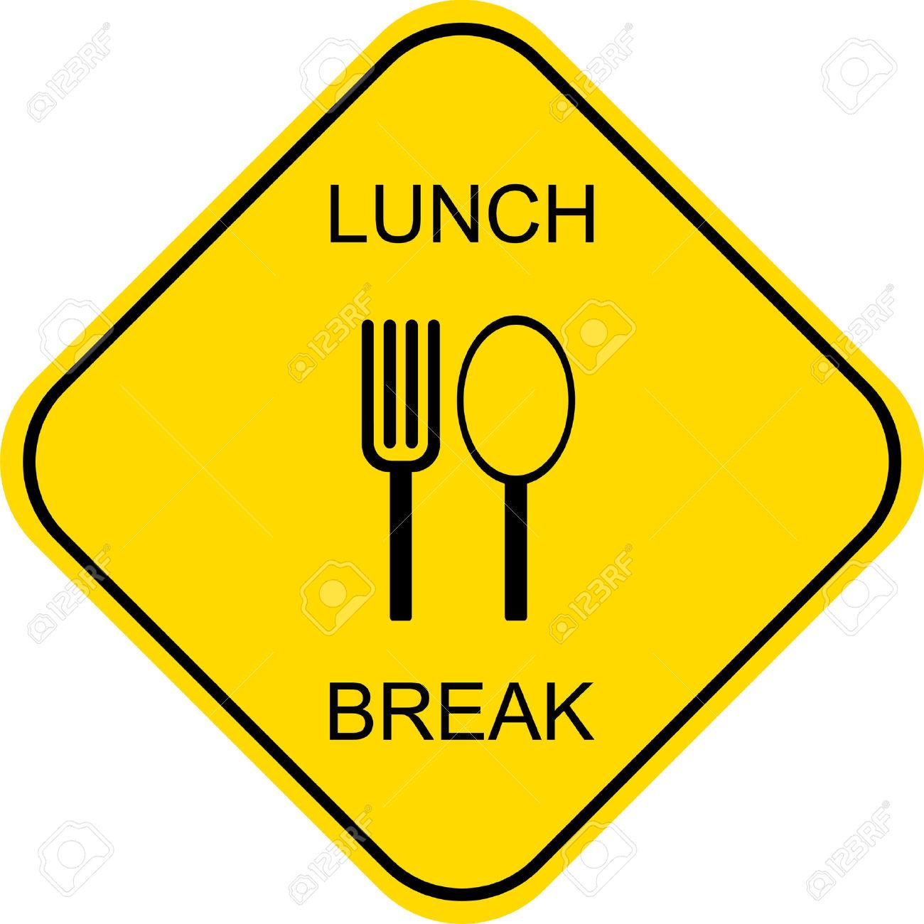1300x1300 Sign Clipart Lunch Break