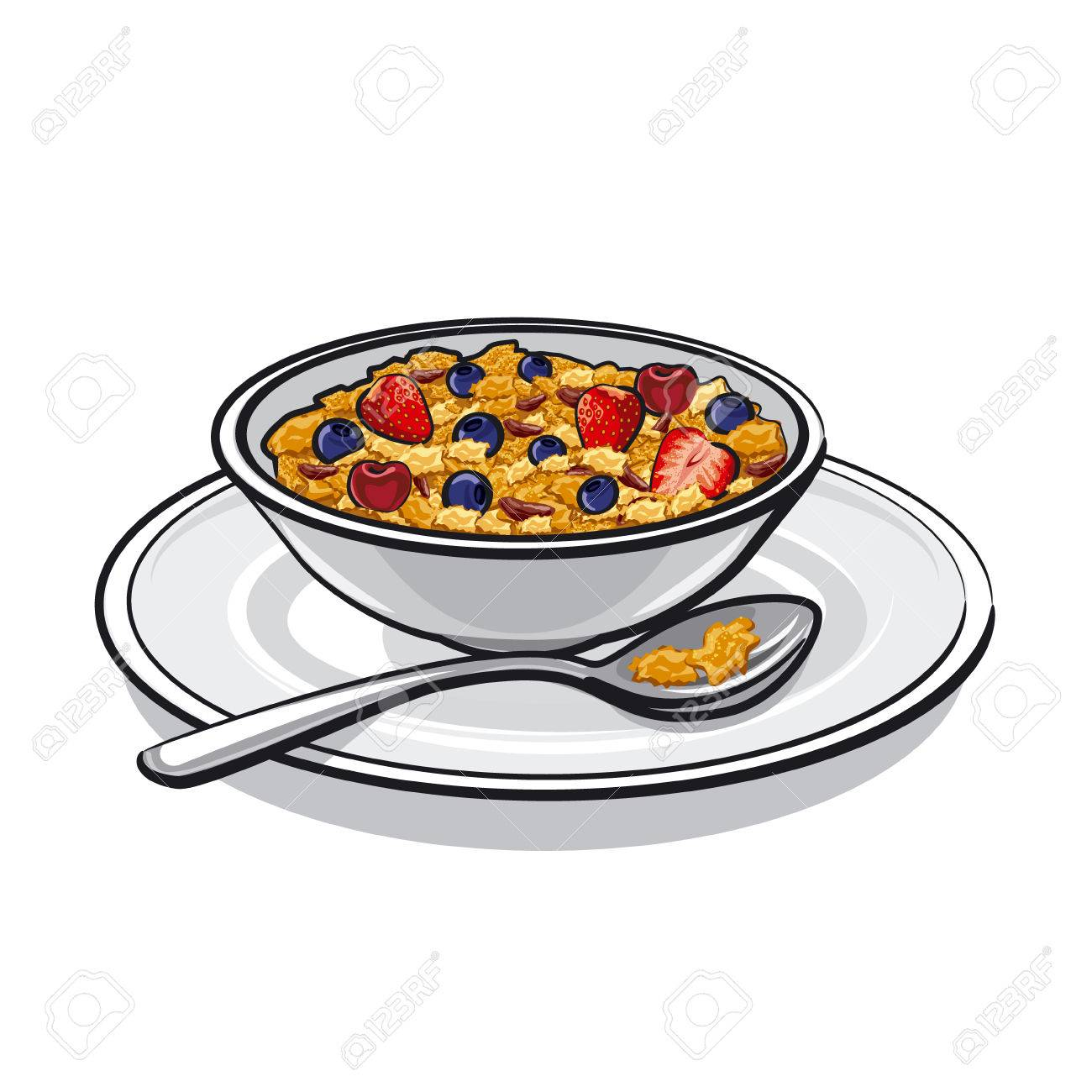 Breakfast Cereal Cliparts