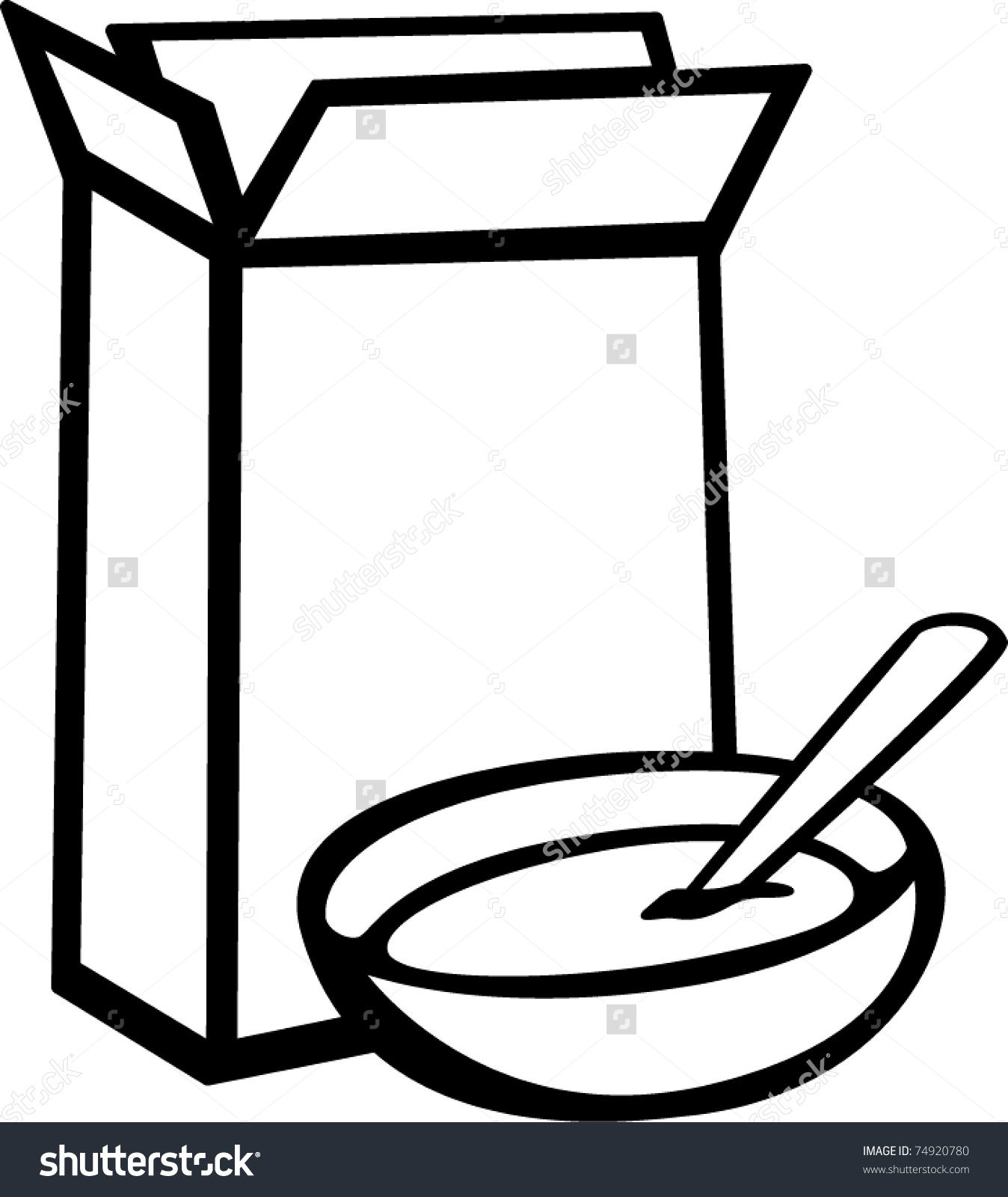 1348x1600 Cereal Box Clipart