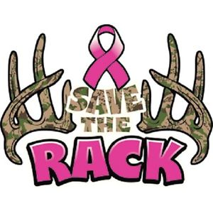 300x300 Save The Rack Camo Antlers Breast Cancer Awareness T Shirt S 6xl