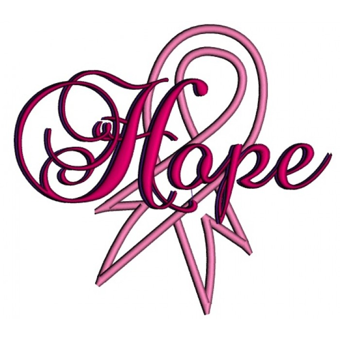 700x700 Breast Cancer Awareness Ribbon Applique Machine Embroidery Design