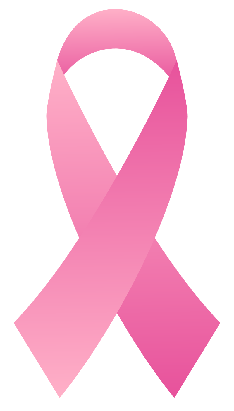 800x1400 Breast Cancer Awareness Ribbon Clipart