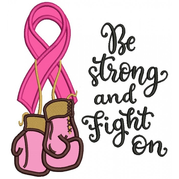 700x700 Strong And Fight On Breast Cancer Awareness Ribbon With Boxing