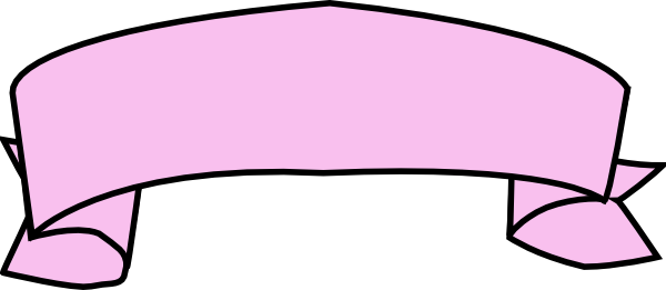 600x261 Pink Ribbon Breast Cancer Clip Art Outline 2
