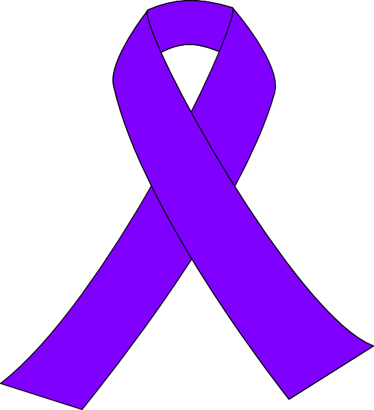 546x599 Purple Breast Cancer Ribbon Clip Art