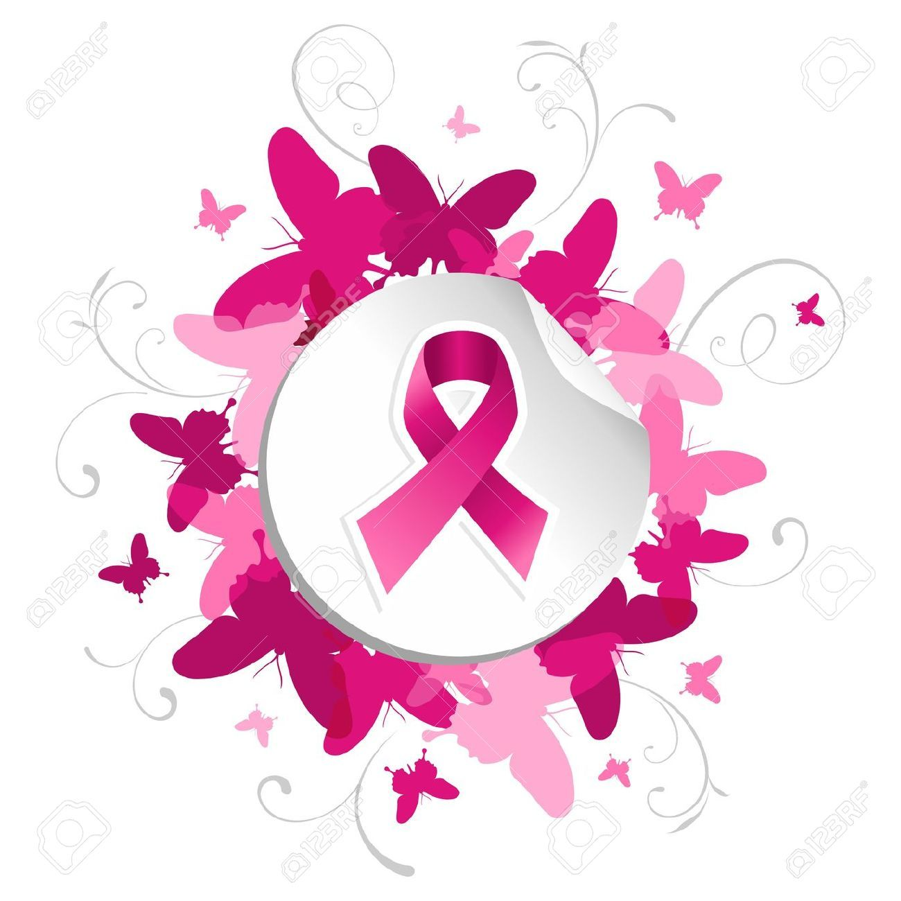 1300x1300 Breast Cancer Awareness Pink Ribbon In Sticker Over Spring