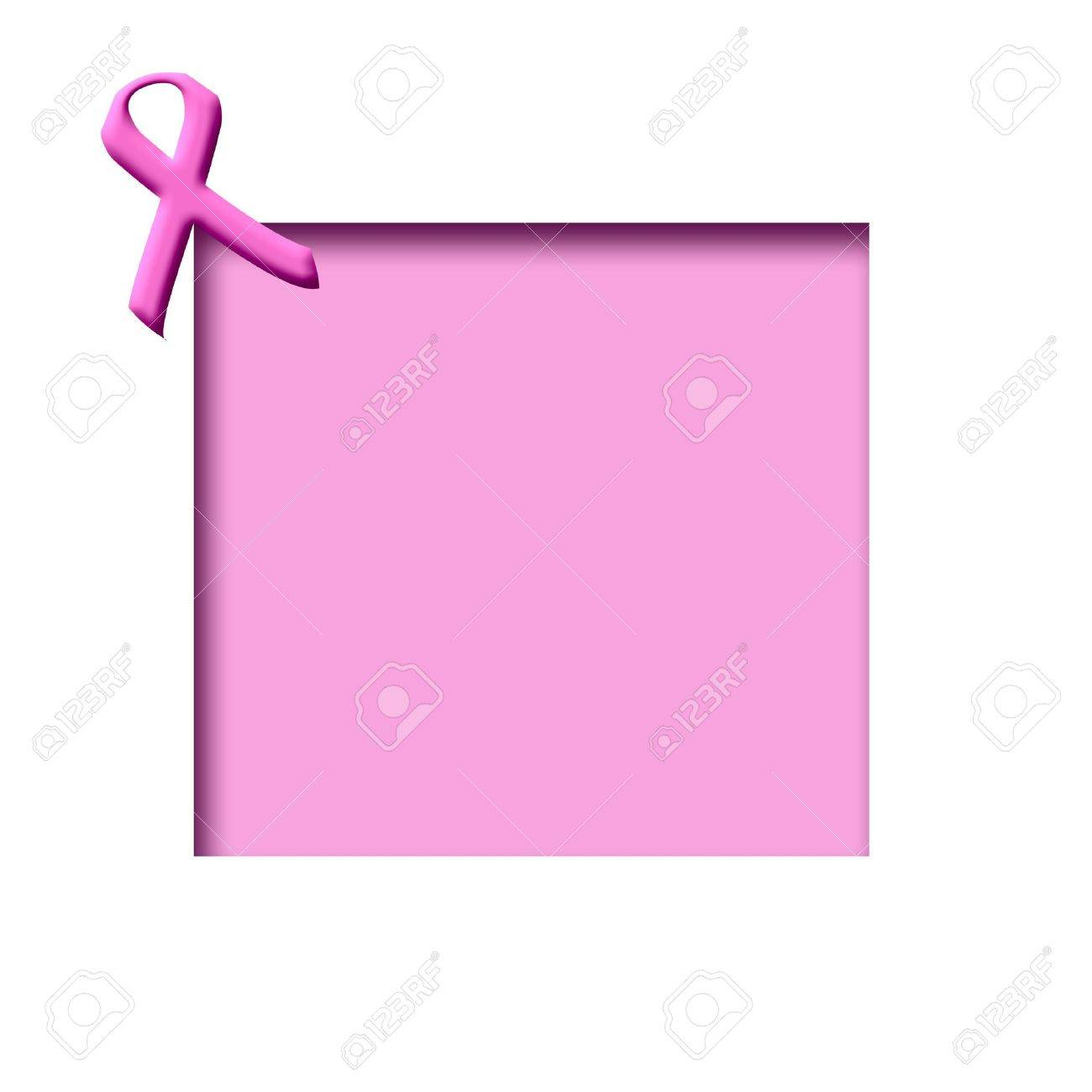 1300x1300 Breast Cancer Awareness Pink Ribbon On Cutout Frame Stock Photo