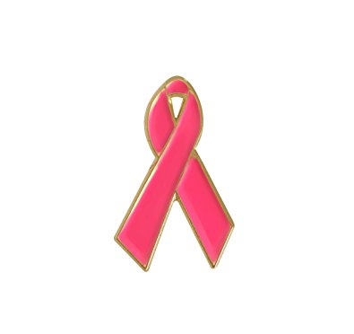 395x372 Pink Ribbon October Breast Cancer Awareness Month Pin
