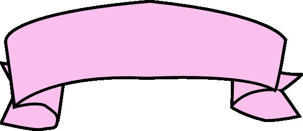 600x261 Pink Ribbon Banner Clip Art