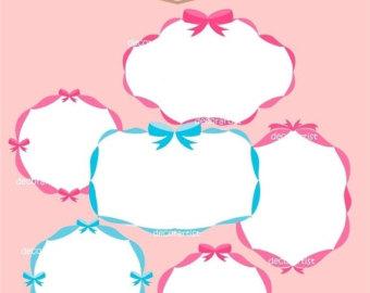 340x270 Pink Ribbon Frame Etsy