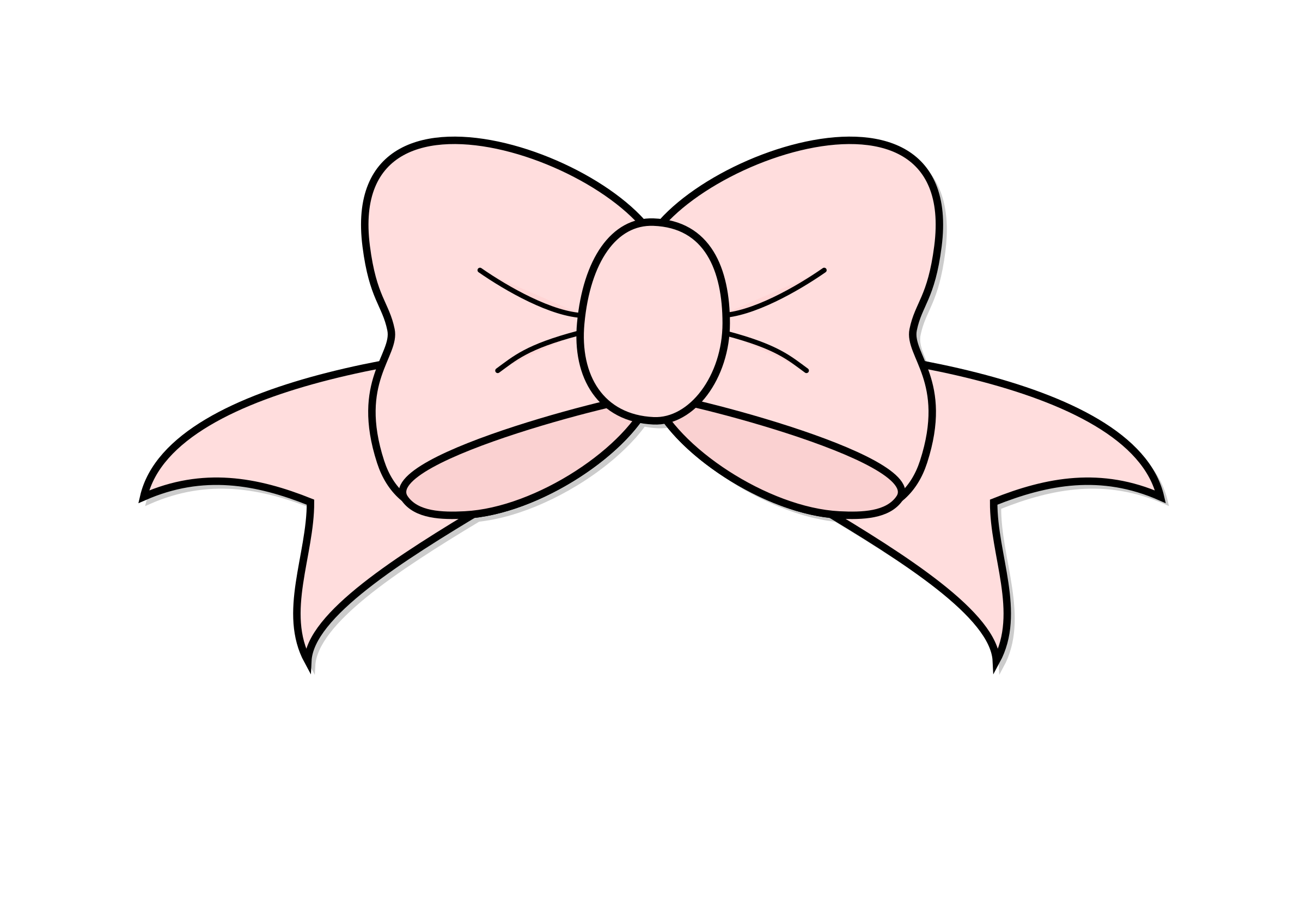 2400x1697 Pink Bow Clipart