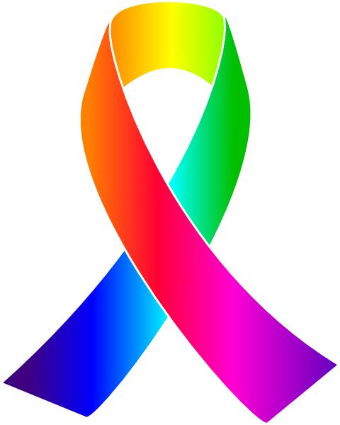 480x599 Rainbow Awareness Ribbon Clip Art