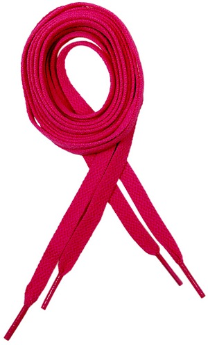 300x496 Breast Cancer Awareness Pink Shoelaces