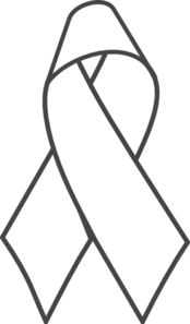 174x297 Breast Cancer Ribbon Bampw Clip Art