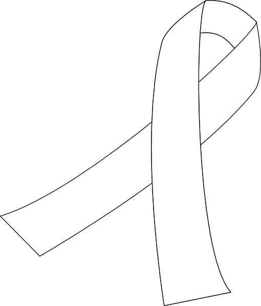 510x598 Large Outline Cancer Ribbon Tattoo Sample