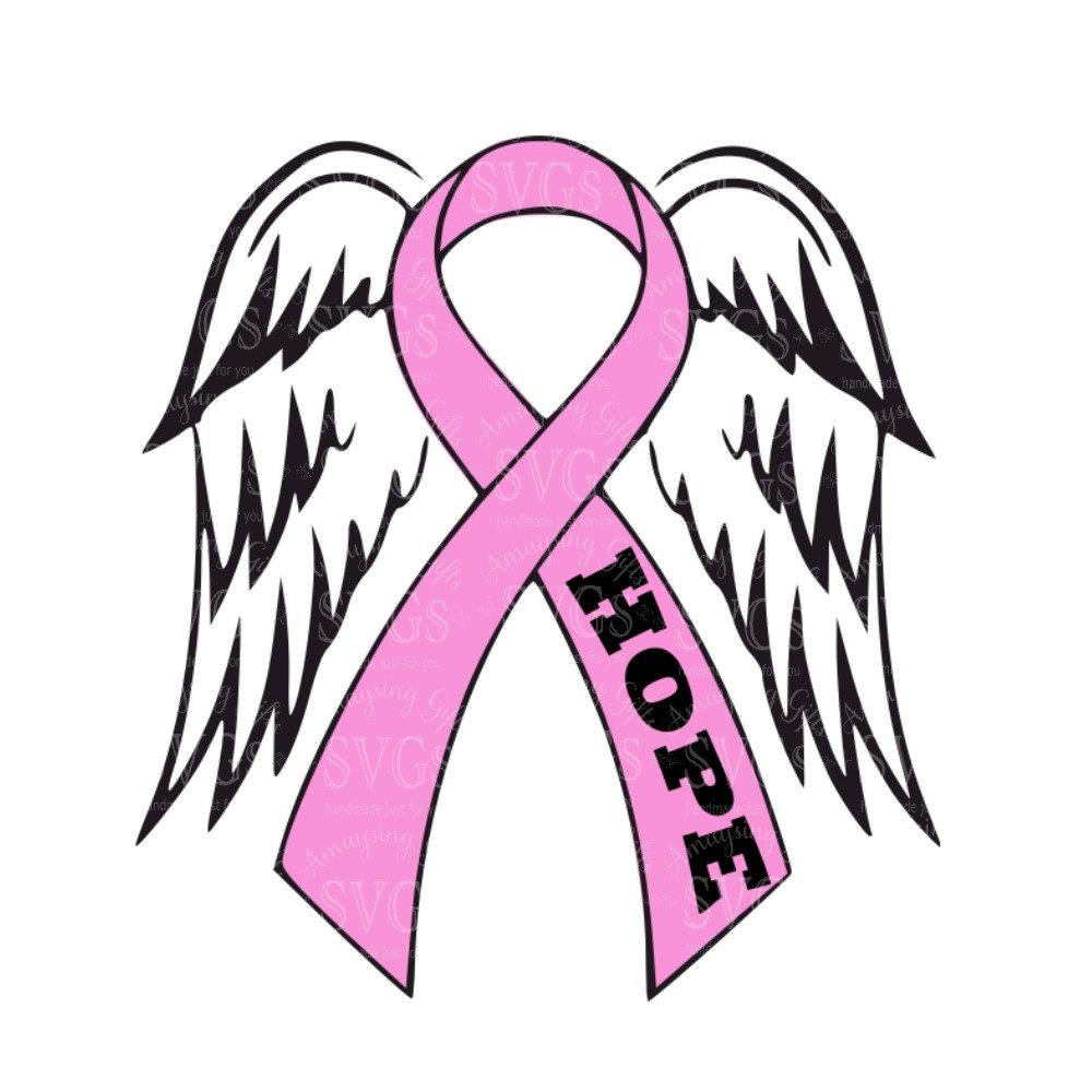 30627099d64be Breast Cancer Ribbon Outline | Free download best Breast Cancer ...